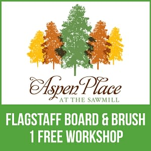 Flagtstaff Boad & Brush - 1 Free Workshop